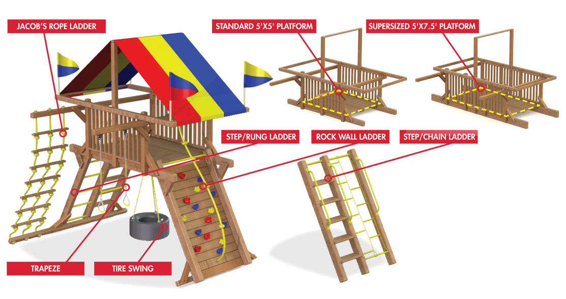 Castles Options Rainbow Play Systems Of Nc
