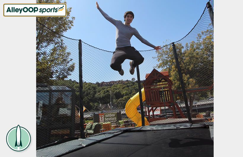 Powerbounce Rectangular Trampoline Alleyoop Sports